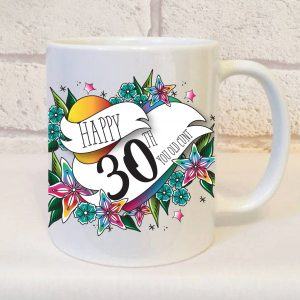happy 30th you old cunt mug gift - offensive mug