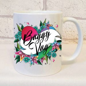 cheeky gift idea, Baggy Vag Mug By Beautifully Obscene