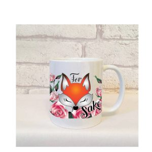 for fox sake mug by Beautifully Obscene