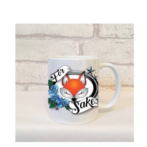 for fox sake mug gift By Beautifully Obscene