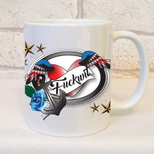 fuckwit mug by Beautifully Obscene