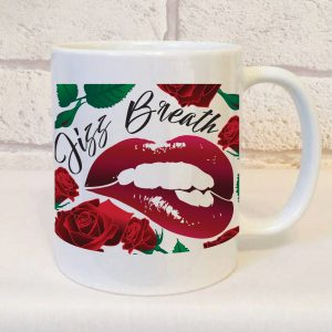jizz breath mug gift by Beautifully Obscene