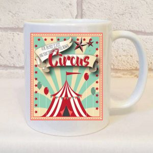 family is one full tent circus mug by Beautifully Obscene