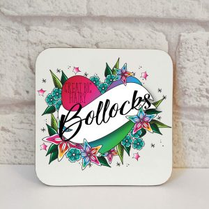 Bollocks Gift. An exclusively designed Great Big Hairy Bollocks Coaster