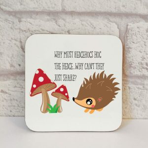 hedgehog coaster by Beautifully Obscene
