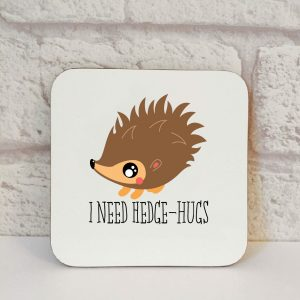african pygmy hedgehog coaster by Beautifully Obscene
