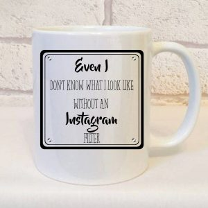 addicted to instagram mug by Beautifully Obscene
