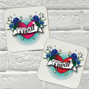 couples coaster gift set by Beautifully Obscene