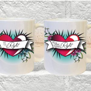 couples funny mug set by Beautifully Obscene
