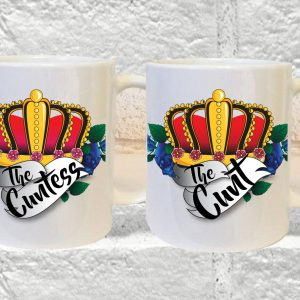 the cunt the cuntess mug set by Beautifully Obscene