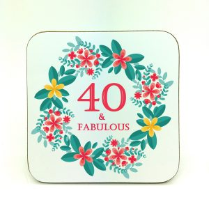 40th birthday gift coaster by Beautifully Obscene