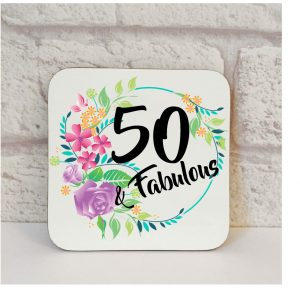 50th birthday gift coaster by Beautifully Obscene