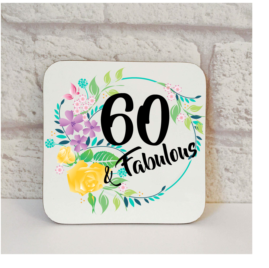 60th Birthday Gift Coaster By Beautifully Obscene