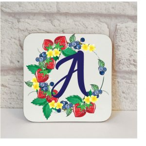 Initial A Name Coaster By Beautifully Obscene