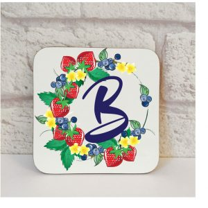 Initial B Name Coaster By Beautifully Obscene
