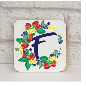 Initial F Name Coaster By Beautifully Obscene