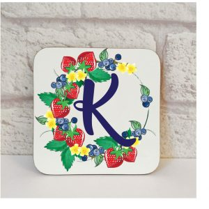 Initial K Name Coaster By Beautifully Obscene