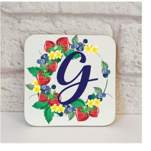 Initial G Name Coaster By Beautifully Obscene
