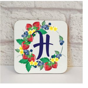 Initial H Name Coaster By Beautifully Obscene