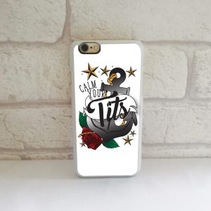 calm your tits iphone case by Beautifully Obscene