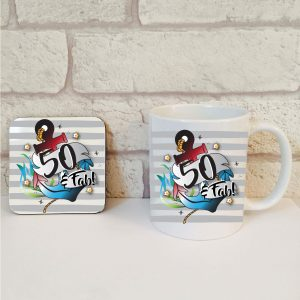 50th birthday mug set for him by Beautifully Obscene