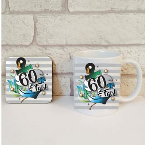 60th birthday mug set for him by Beautifully Obscene