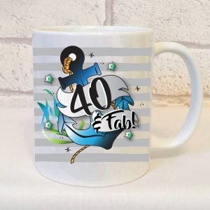 40th birthday mug for him By Beautifully Obscene