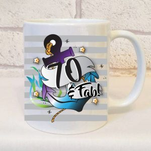 70th birthday mug for him by Beautifully Obscene