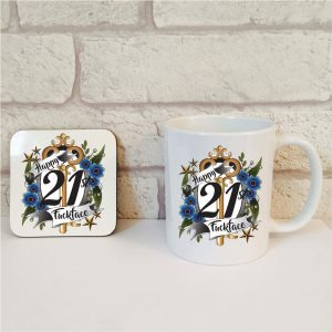 21st birthday mug set by Beautifully Obscene