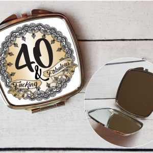 rude 40th compact mirror by Beautifully Obscene
