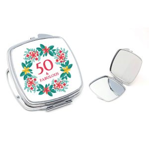 50th compact mirror gift by Beautifully Obscene