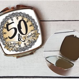 rude 50th compact mirror by Beautifully Obscene