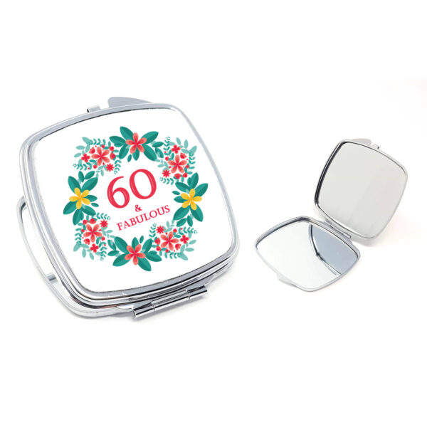 60th compact mirror gift by Beautifully Obscene