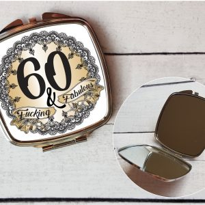 rude 60th compact mirror by Beautifully Obscene