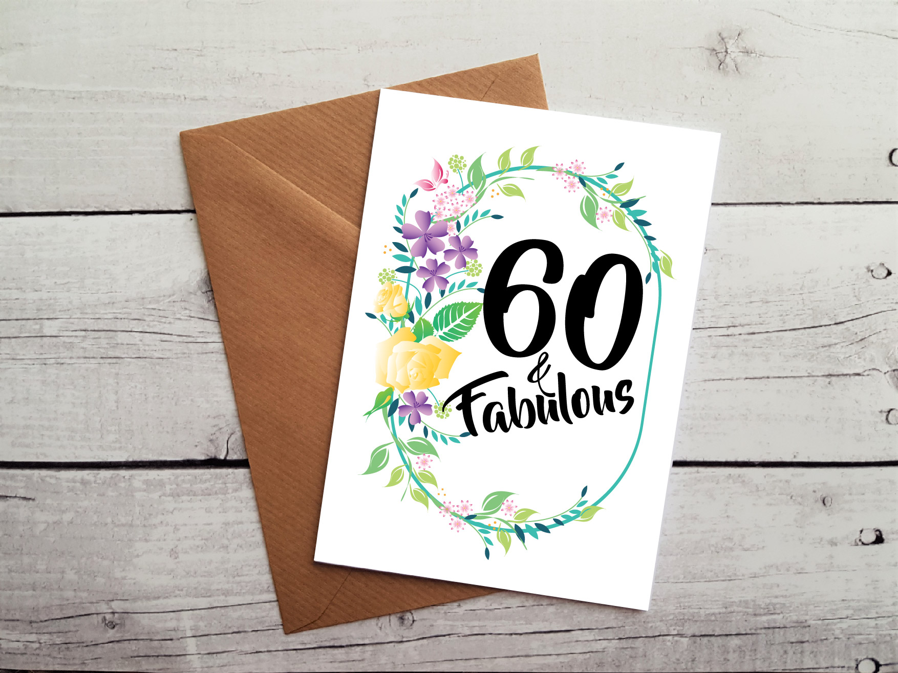 Handmade 60th Birthday Card By Beautifully Twee