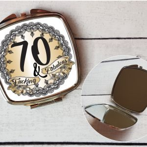 rude 70th compact mirror by Beautifully Obscene