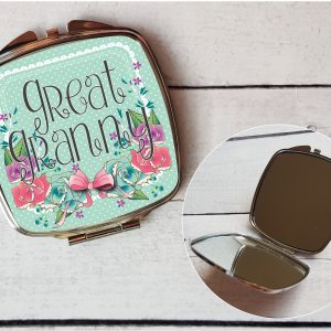 personalised hand mirror great granny By Beautifully Twee