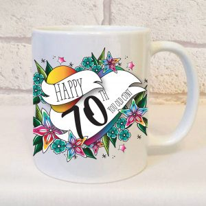 offensive 70th birthday mug by Beautifully Obscene