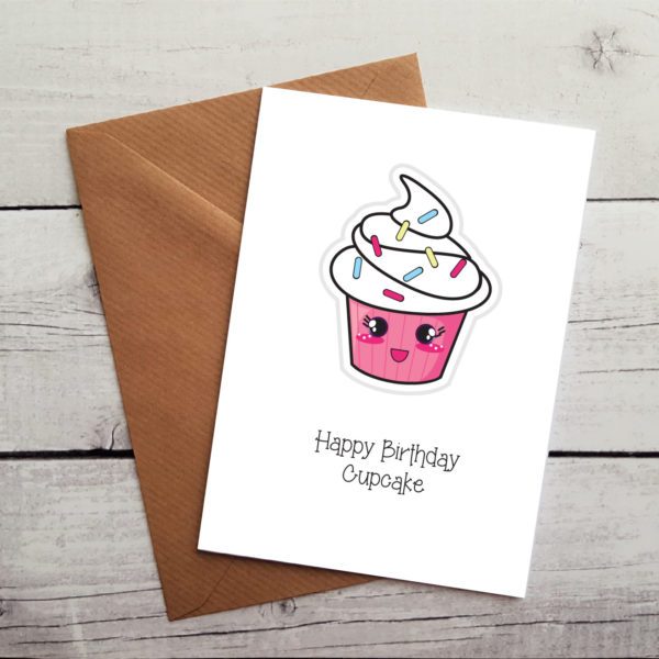 Cupcake Birthday Card Cute Occasion Card By Beautifully Obscene
