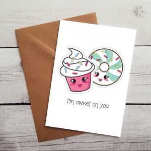 cake lovers occasion card by Beautifully Obscene