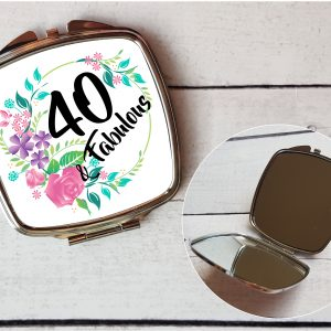 compact mirror gift for 40th birthday by Beautifully Twee