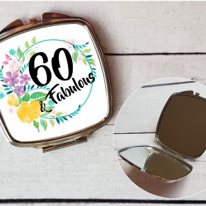 60th compact mirror gift by Beautifully Twee