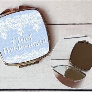 chief bridesmaid compact mirror by Beautifully Obscene