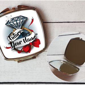 Future Mrs Engagement Gift, Compact Mirror By Beautifully Twee