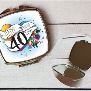 offensive 40th compact mirror by Beautifully Obscene
