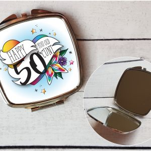 offensive 50th compact mirror by Beautifully Obscene