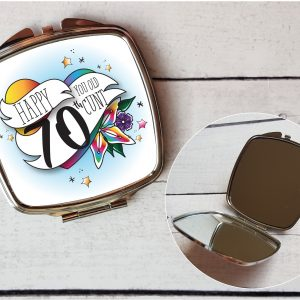 offensive 70th compact mirror by Beautifully Obscene