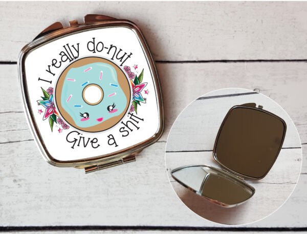 donut compact mirror by Beautifully Obscene