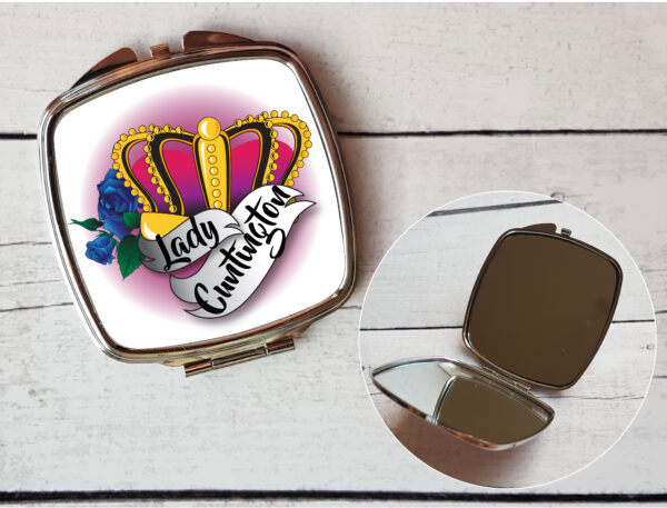 mature compact mirror, Lady Cuntington
