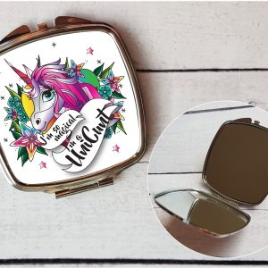 rude unicorn compact mirror by Beautifully Obscene